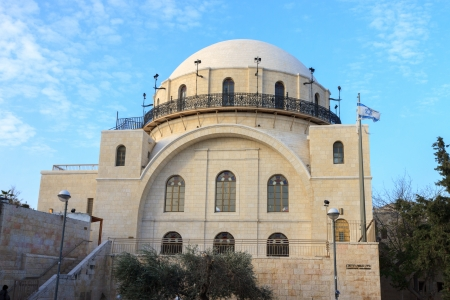synagogues: Synagogue Hurva in old city of Jerusalem, Israel