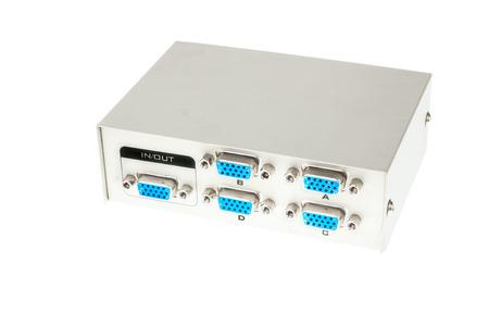 vga: Interruptor de VGA Input-Output aisladas sobre fondo blanco