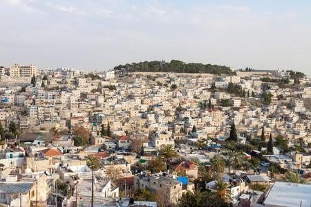 Jerusalem, panorama of city district, Israel photo