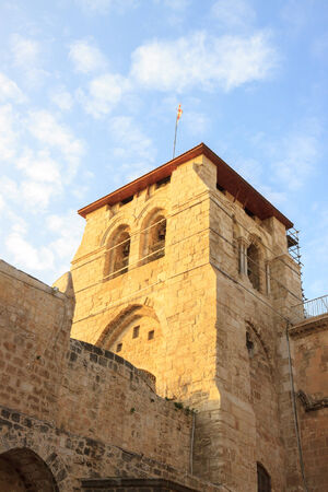 Belfry on entrance to the Temple of the Holy Sepulchre in Jerusalem, Belfry photo