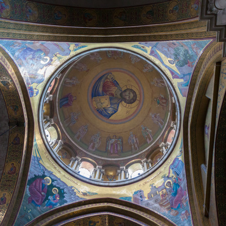 sepulcher: Painted ceiling dome Holy Sepulcher in Jerusalem Editorial