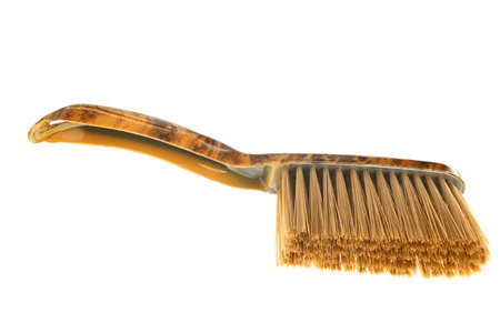 One brown dust brush isolated on white background photo