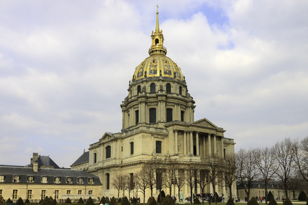 Panorama of Cathedral Les Invalides in Paris, France photo