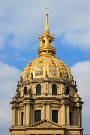 Dome of Cathedral Les Invalides in Paris, France photo