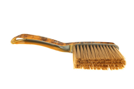Brown dust brush isolated on white background photo