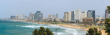 Tel Aviv  Israel - 20-04-2014  Panorama of Tel Aviv from Jaffa Stock Photo - 27654606