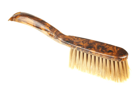 Single dust brush isolated on white  photo