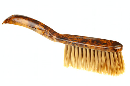 One dust brush isolated on white background photo