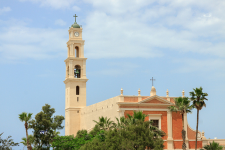 Belltower of monastery saint Peter in Jaffa photo