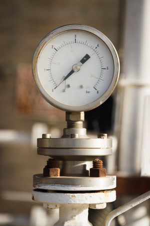 Manometer on chemical plant photo