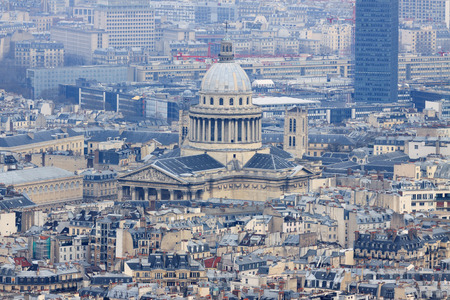 The Pantheon in Paris, France, view from top photo