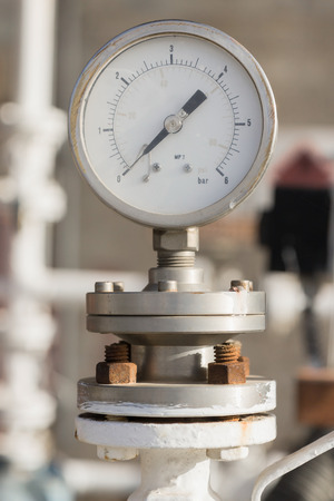 One manometer on chemical plant photo