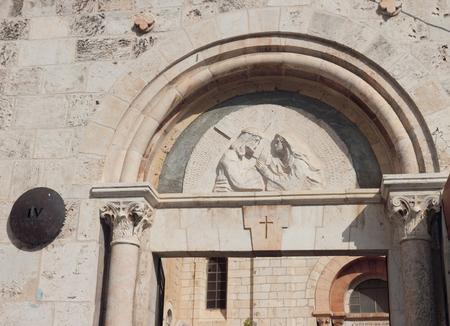 gospels: Via dolorosa, 4 station, Jerusalem, Israel