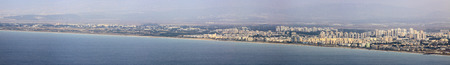 carmel: Panorama of nord Israel from mount Carmel in Haifa
