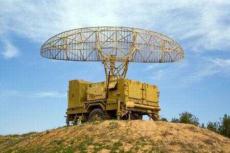 Old military radar in museum