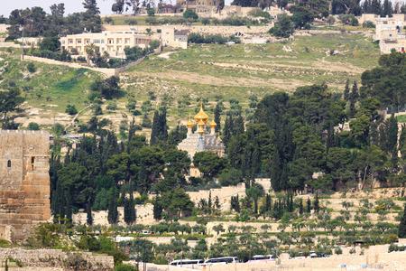 Church of Maria Magdalena on Mount of Olives, Jerusalem photo