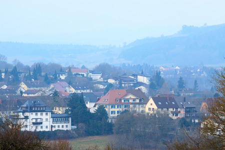 The morning haze in Germany photo