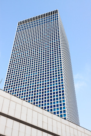 The square tower of Azrieli Center in Tel-Aviv, Israel Editorial