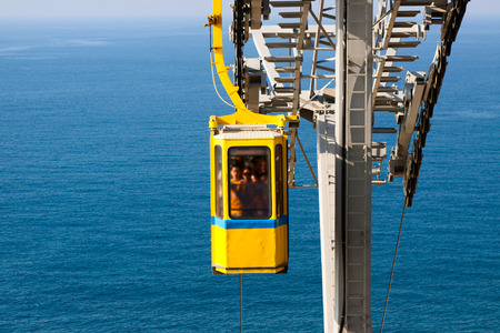 hanikra: Cableway in Rosh Hanikra Israel Editorial