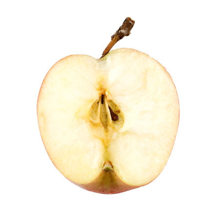 healthier: Half of apple isolated on white background