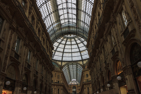 mach: MILAN ITALY - MACH 24, 2013: Skylight of Galleria Vittorio Emanuele II in Milan, Italy Editorial