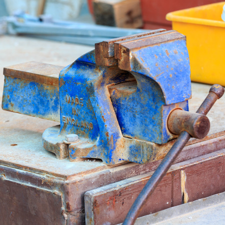Blue obsolete vise-grip made in England photo