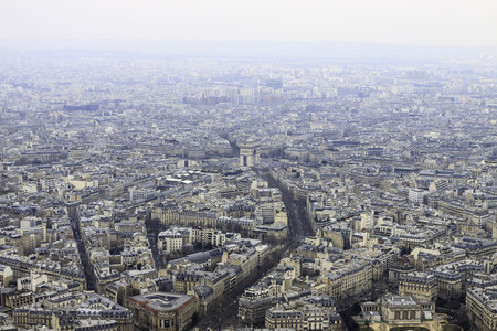 View on Triumphal Arch in Paris from Eiffel tower