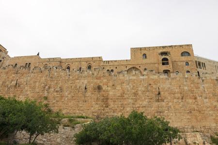 Jewish quarter and wall of Jerusalem city