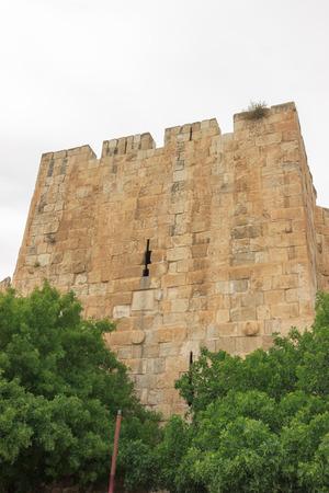Tower on wall of Jerusalem city