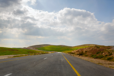 Road in the Palestinian Authority from Hebron to South Israel