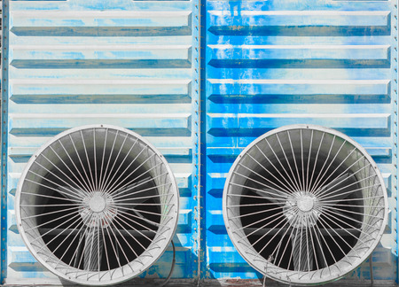 ventilate: Pair of very big lattices of industrial fans