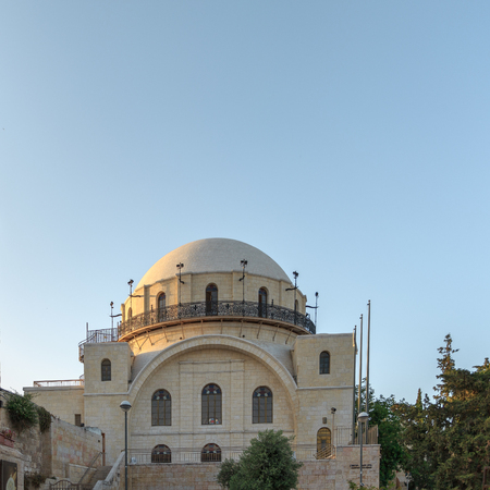 synagogues: Synagogue with name  Hurva in old city of Jerusalem, Israel
