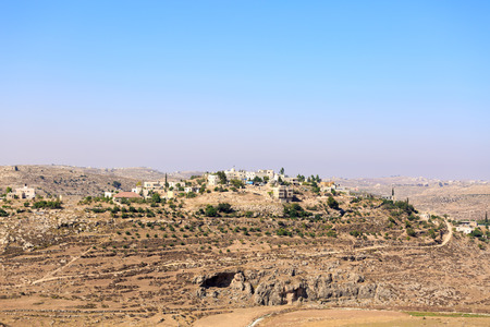 judea: Some buildings in palestinian village Rabud in Judea