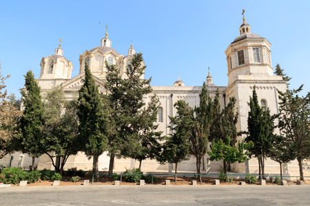 ecclesiastical: Right side of Trinity Cathedral of a Russian Ecclesiastical Mission in Jerusalem