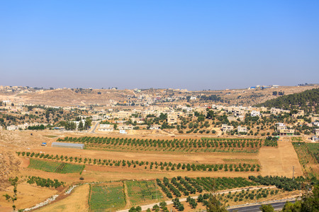 judea: View on houses in a Palestinian village Rabud in Judea Stock Photo
