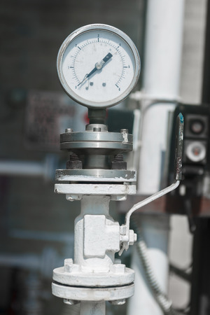 manometer: Industrial manometer on chemical plant