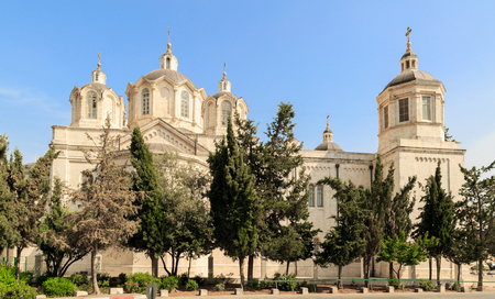 ecclesiastical: Trinity Cathedral of a Russian Ecclesiastical Mission in Jerusalem Stock Photo