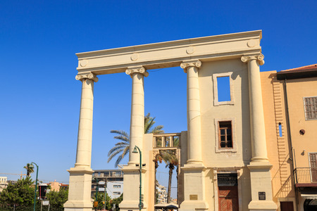 colonnade: JAFFA, ISRAEL SEPTEMBER 17, 2015: Colonnade in old city