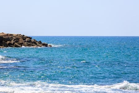 small stones: Small stones in Mediterranean Sea in Israel Stock Photo