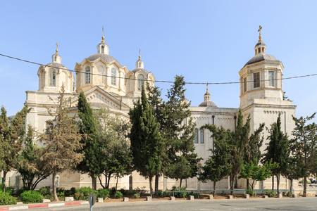 ecclesiastical: Right side of Trinity Cathedral of a Russian Ecclesiastical Mission