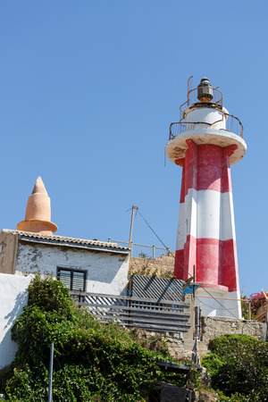 yaffo: Lighthouse in old city of Jaffa Stock Photo