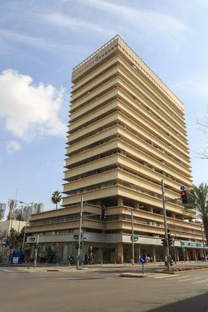 ibn: TEL-AVIV, ISRAEL - JANUARY 22, 2016: Residential building on the corner of Kaplan and Ibn Gabirol in Tel Aviv