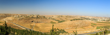 judea: Panorama of palestinian village in Judea