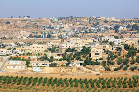 judea: View on houses in a Palestinian village in Judea Stock Photo
