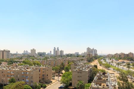 View of the houses in Beersheba
