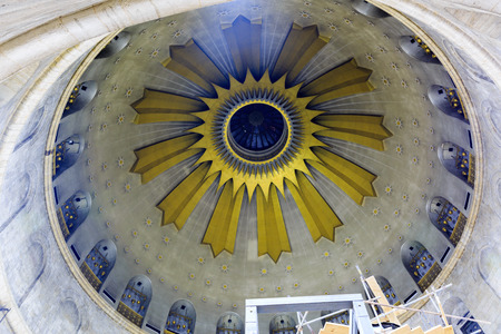 The majestic dome of Church of the Holy Sepulcher in Jerusalem, Israel