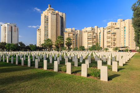 Military cemetery of Australian cavalry corps in Beer Sheba who are died at First World War on Middle East