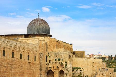 Dome of the mousque Al-aqsa in Jerusalem