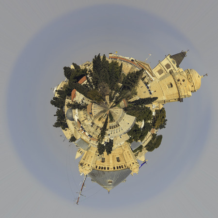 Planet Jerusalem with Dormitsion abbey on mount Zion