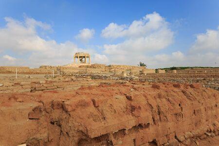View on ancient ruins of Tel Beer Sheba Stock Photo